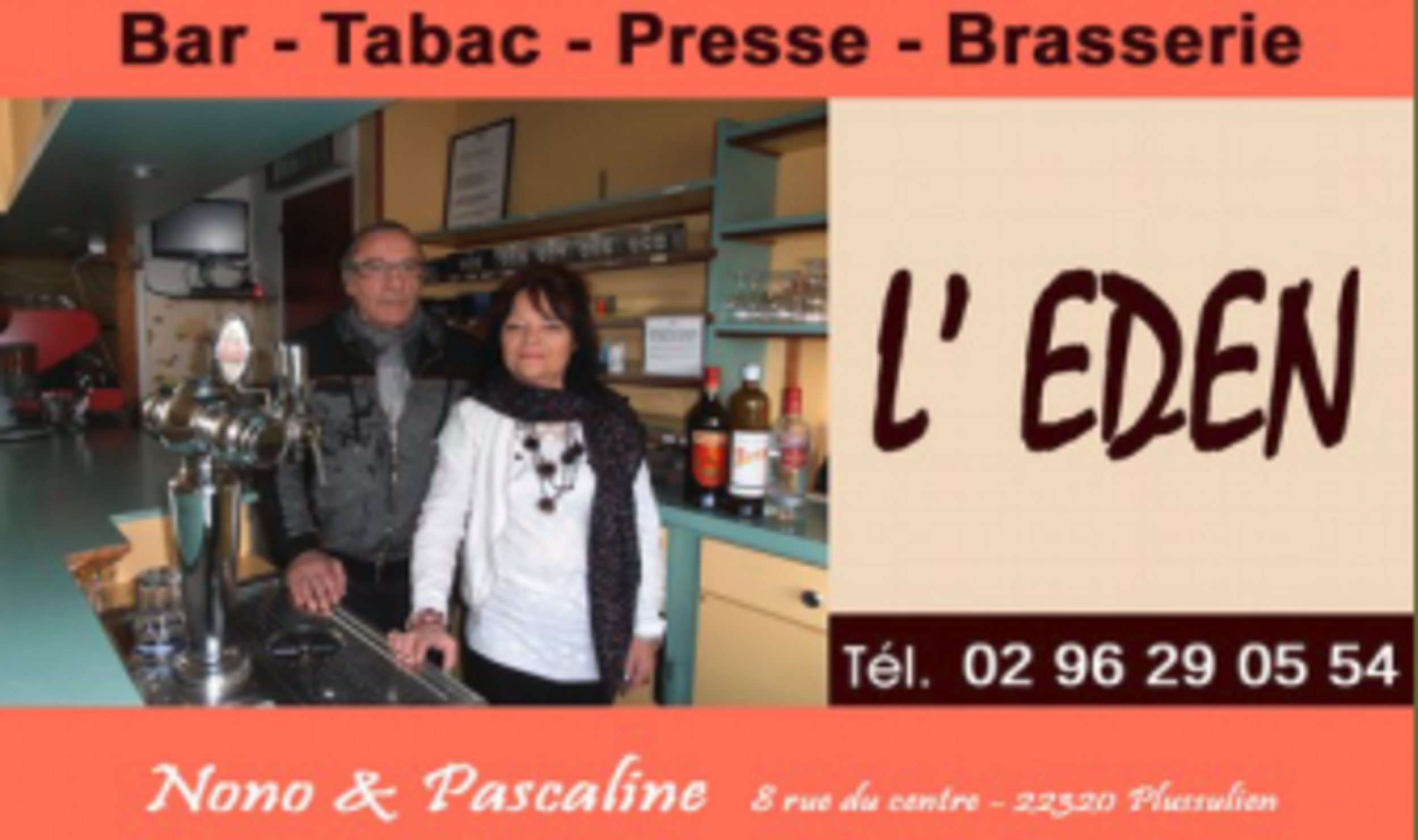 Bar Brasserie de l''Eden - Plussulien