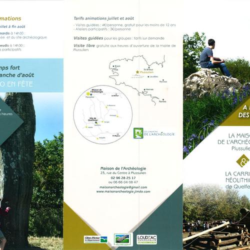 La Maison de l''archéologie de Plussulien & La carrière néolithique de Quelfenec