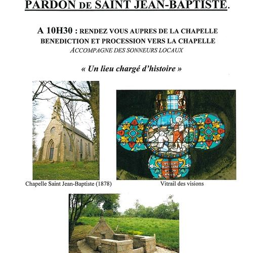 Le relais paroissial de St Martin des Prés- pardon St Jean-Baptiste du 20 juin 2021